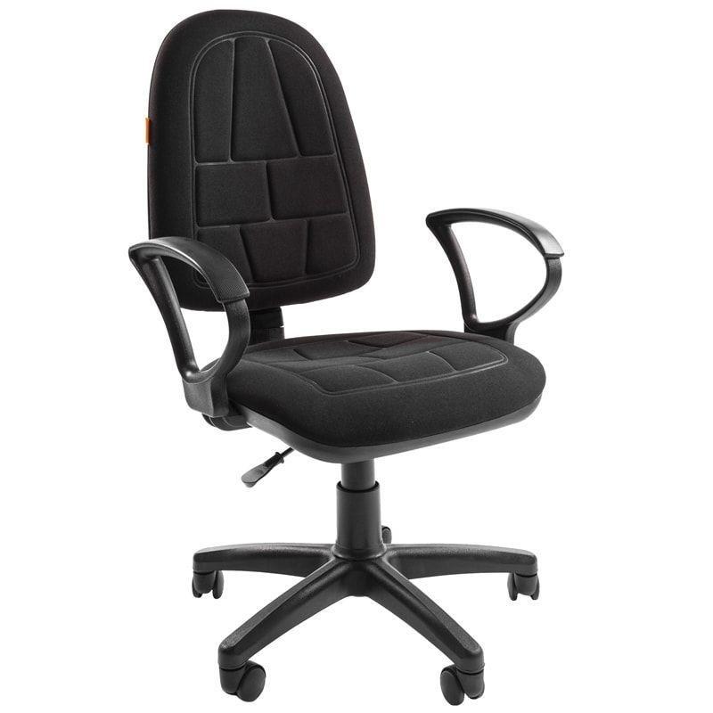 Кресло для оператора Chairman CH-205 с подлокотниками ткань черное