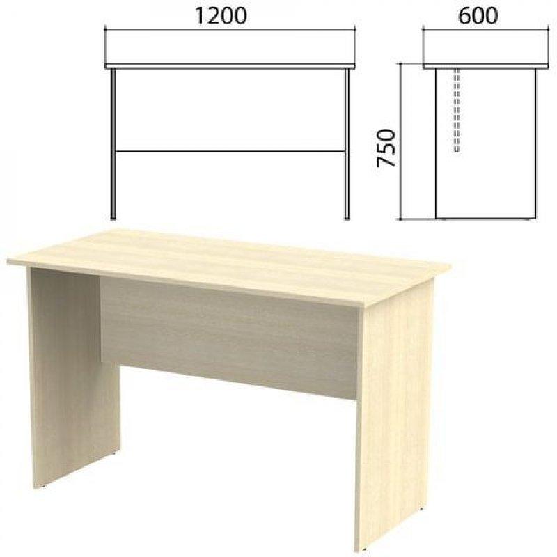 Стол письменный Канц 1200х600х750мм дуб молочный