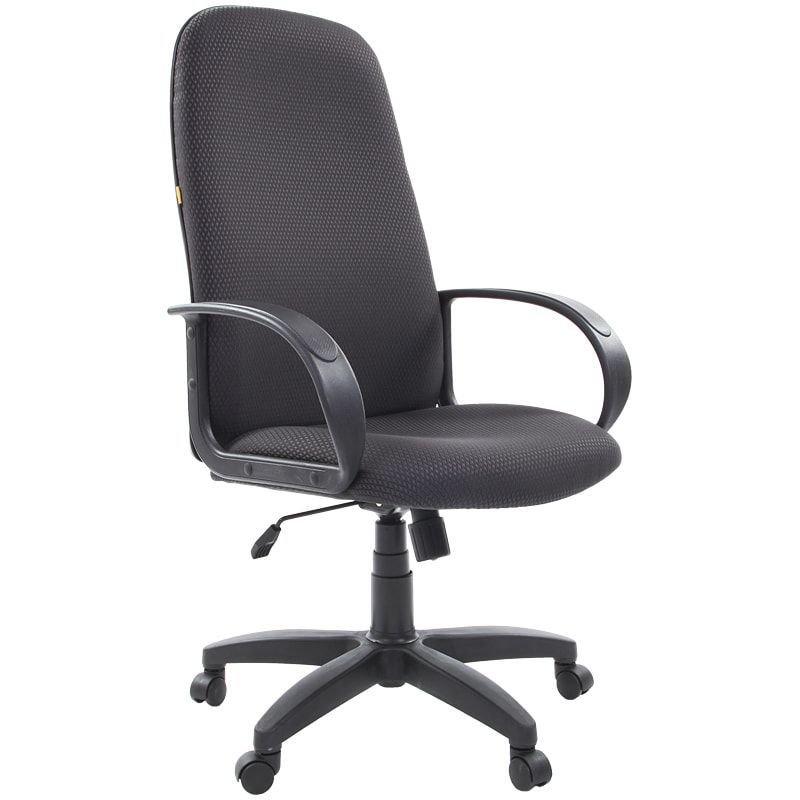 Кресло руководителя Chairman 279 PL с подлокотниками ткань черно-серое JP-15-1