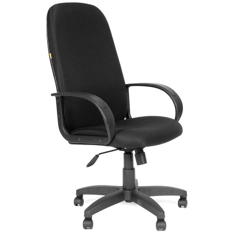 Кресло руководителя Chairman 279 PL с подлокотниками ткань черное JP-15-2