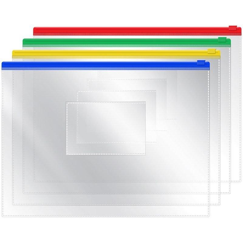 Папка-конверт на молнии А5 OfficeSpace 238х178мм прозрачная