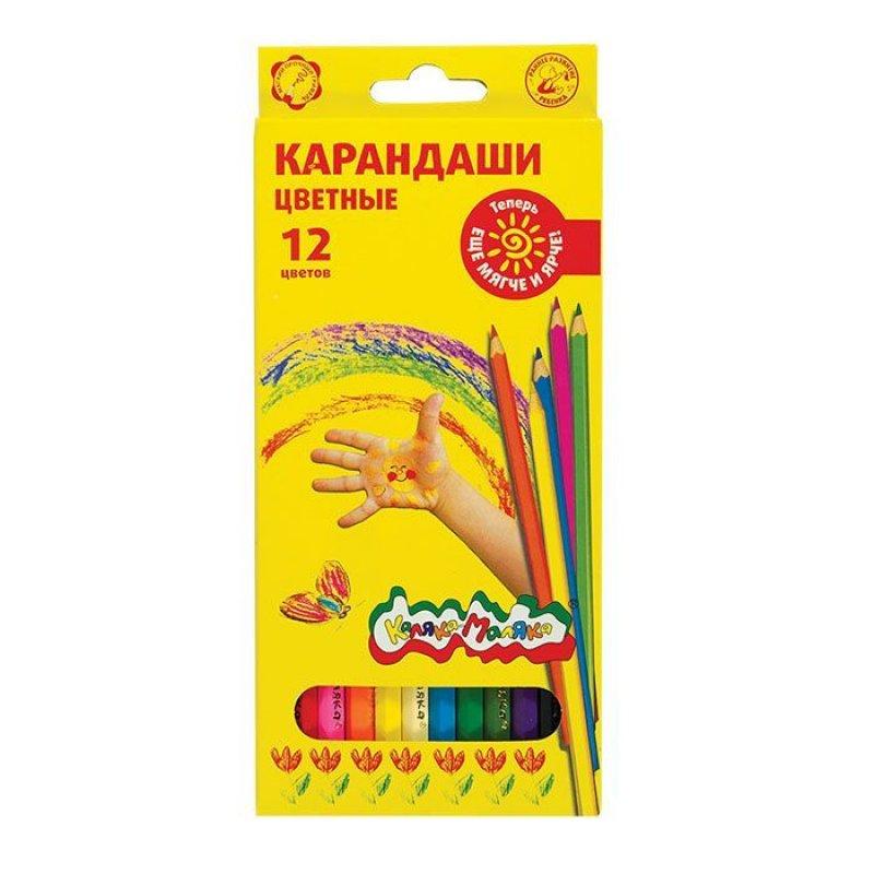 Карандаши 12цв Каляка-Маляка шестигранные 3+