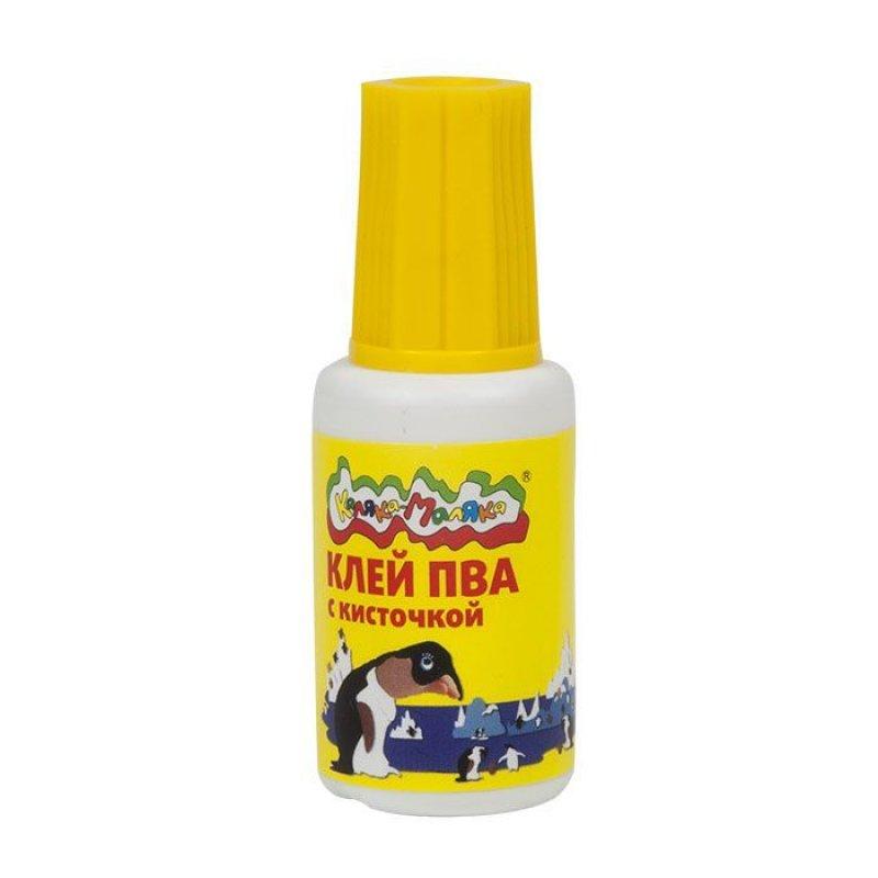 Клей ПВА 20г Каляка-Маляка с кисточкой детский