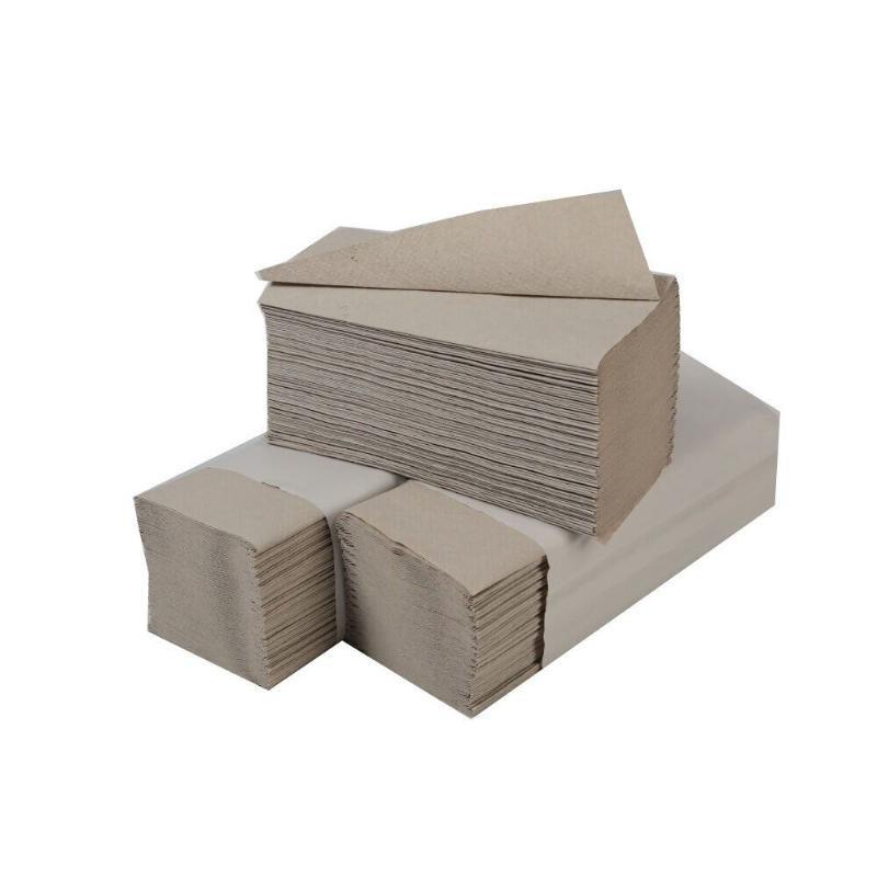Полотенце бумажное ПГ 1-сл V-слож 216х210мм 250л основа Сыктывкар серое макулатура