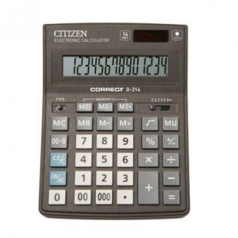 Калькулятор Citizen Correct D-314 155х205мм 14 разр черный