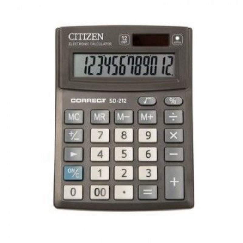 Калькулятор Citizen Correct SD-212 103х138мм 12 разр черный