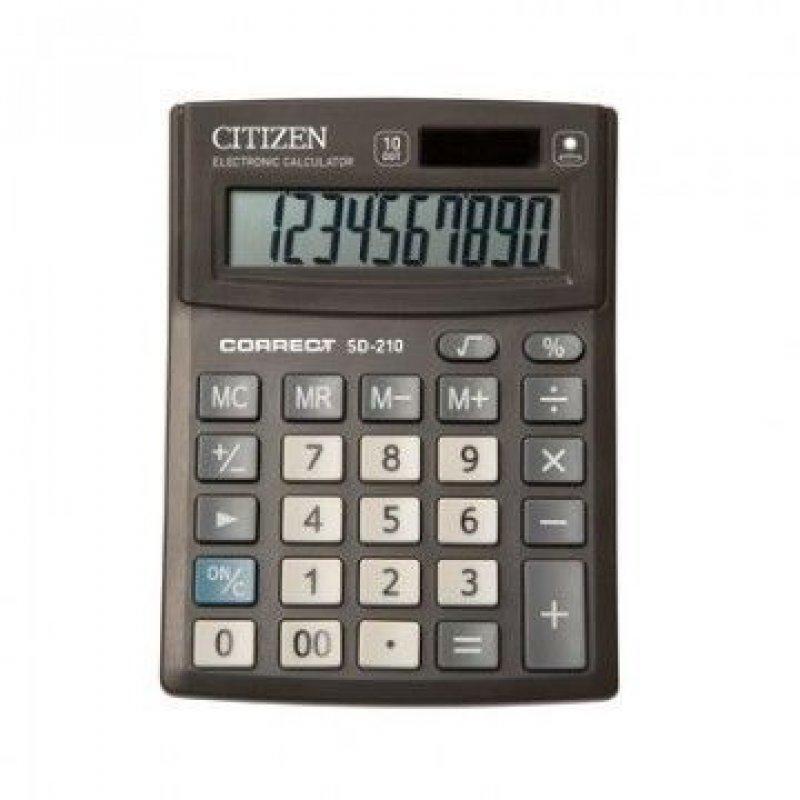 Калькулятор Citizen Correct SD-210 103х138мм 10 разр черный