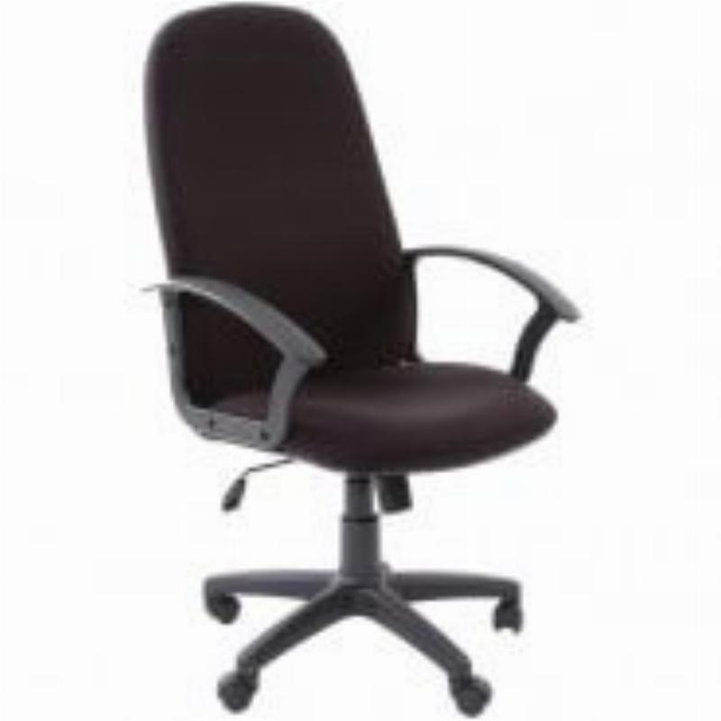 Кресло руководителя Chairman 289NEW PL с подлокотниками ткань черное