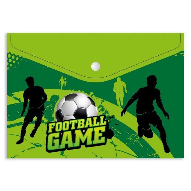 Папка для тетрадей А4 1 отд на кнопке Время футбола