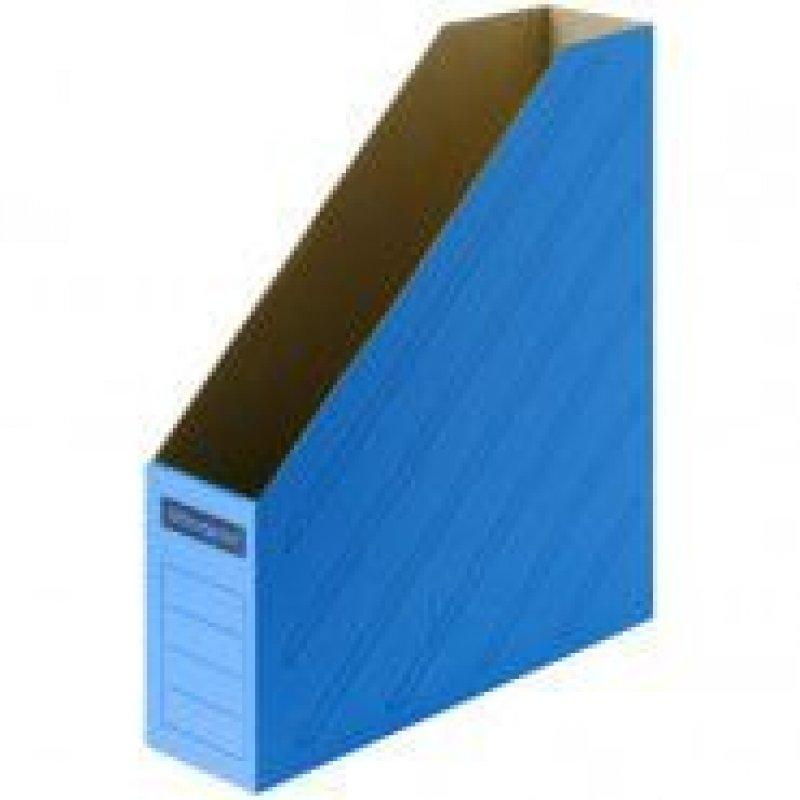 Накопитель документов вертикальный 75мм 700л микрогофрокартон синий 320х250х75мм OfficeSpace