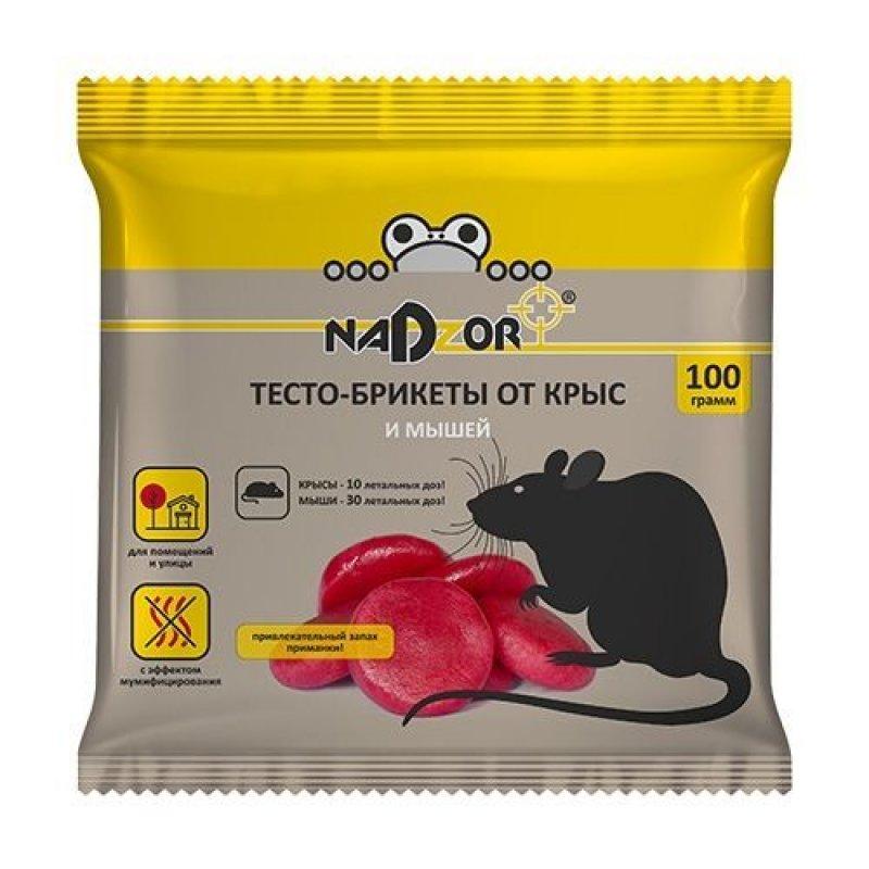 Тесто-брикет от крыс и мышей 100г Надзор