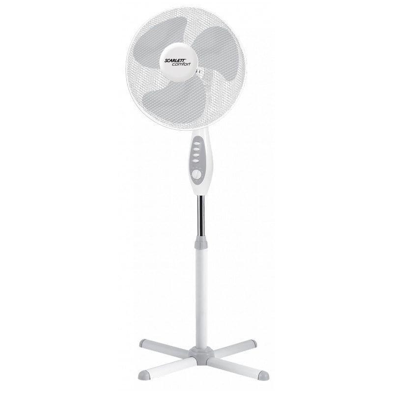Вентилятор напольный Scarlett SC-SF111B18 d40см 45Вт 3 режима белый