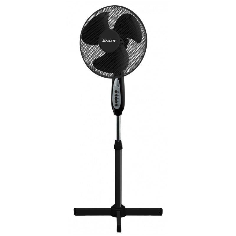 Вентилятор напольный Scarlett SC-SF111B17 d40см 45Вт 3 режима черный