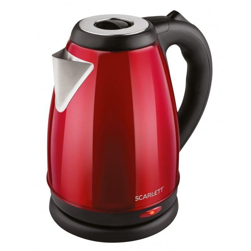 Чайник Scarlett SC-EK21S79 2000Вт 2л нержавеющая сталь красный