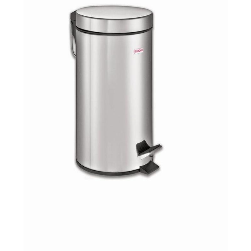 Контейнер для мусора 30л нержавеющая сталь Лайма педаль зеркальный