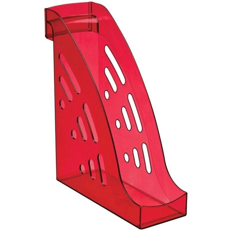 Стойка для бумаг Стамм Торнадо Вишня тонированная темно-красная