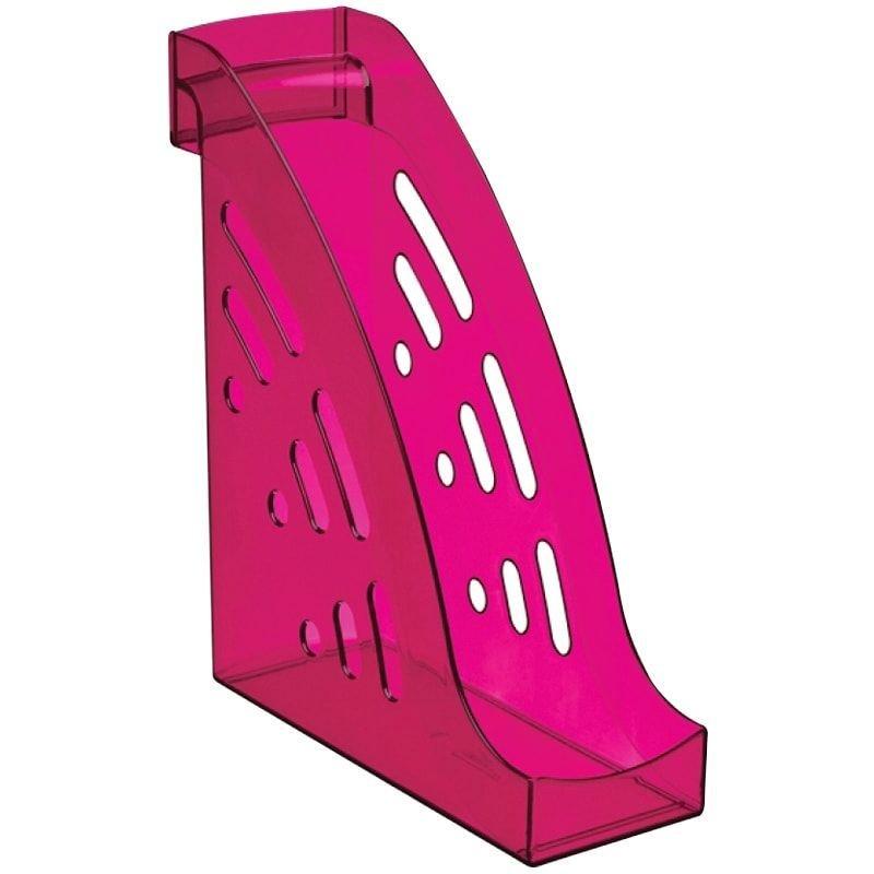 Стойка для бумаг Стамм Торнадо Слива тонированная фиолетовая