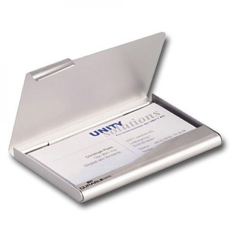 Визитница карманная 20 карточек Durable 1отд алюминиевая