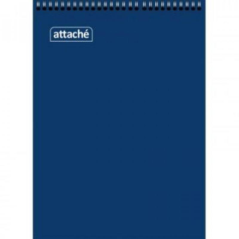 Блокнот А7 60л Attaсhe синий гребень