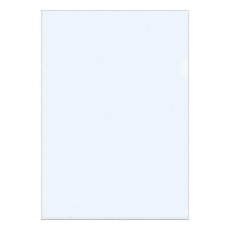 Папка-угол (карман) OfficeSpace 0,10мм прозрачная синяя