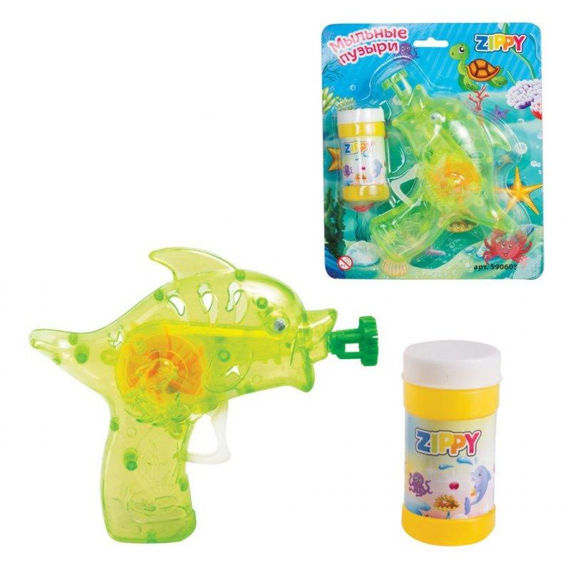 Мыльные пузыри Zippy 55 мл с игрушкой Пистолет