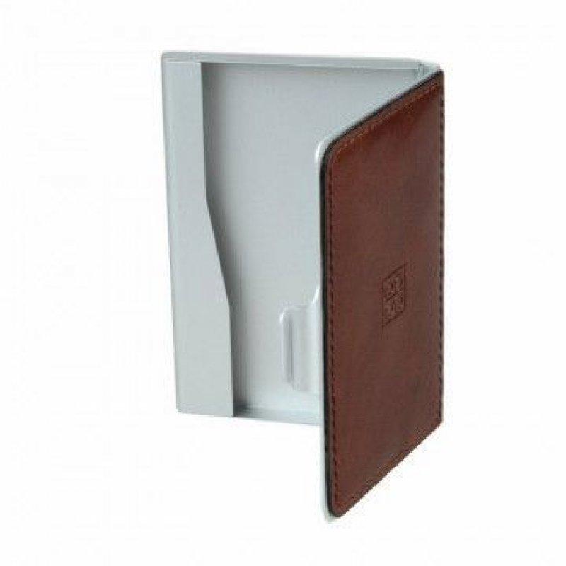 Визитница карманная 25 карточек Sergio Belotti натуральная кожа металл