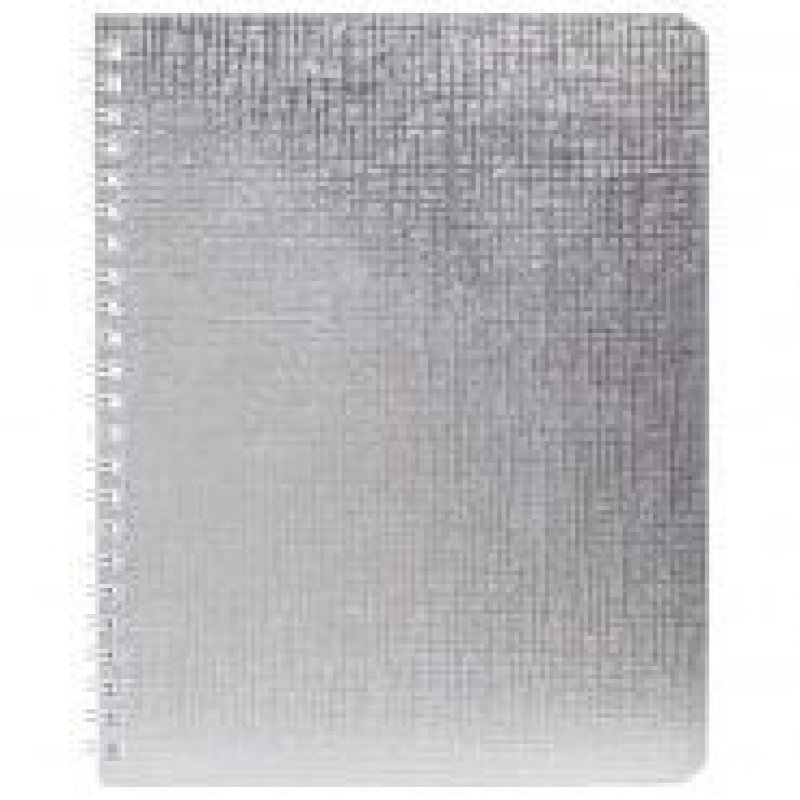 Тетрадь 48л Металлик серебро клетка гребень