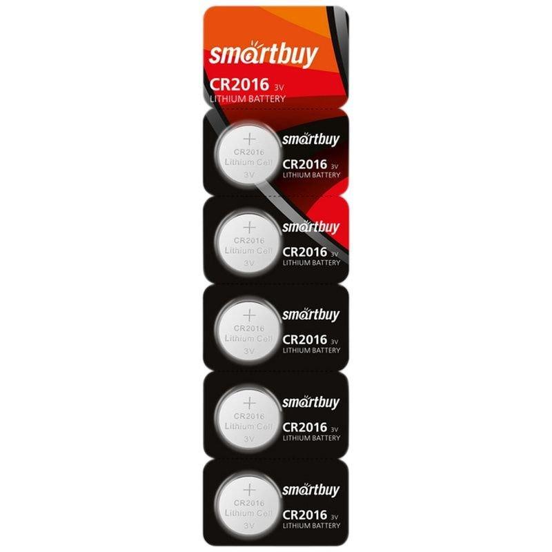 Батарейка SmartBuy CR2016 (1шт в отрывном блистере)