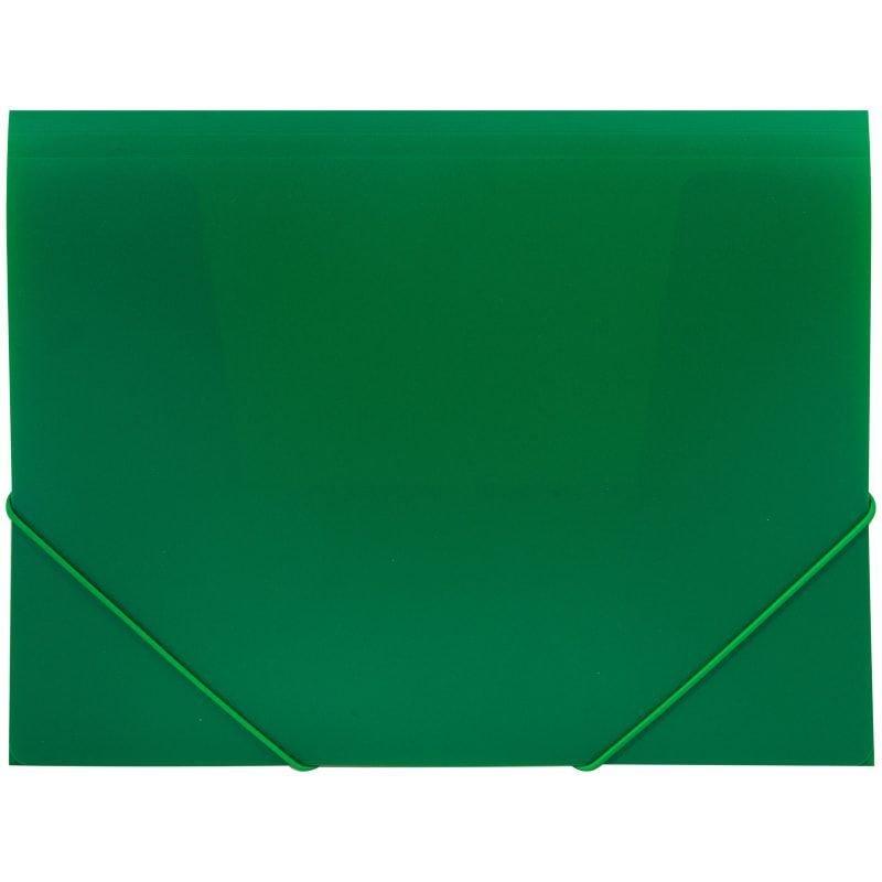 Папка на резинках OfficeSpace А4 0,5мм зеленая