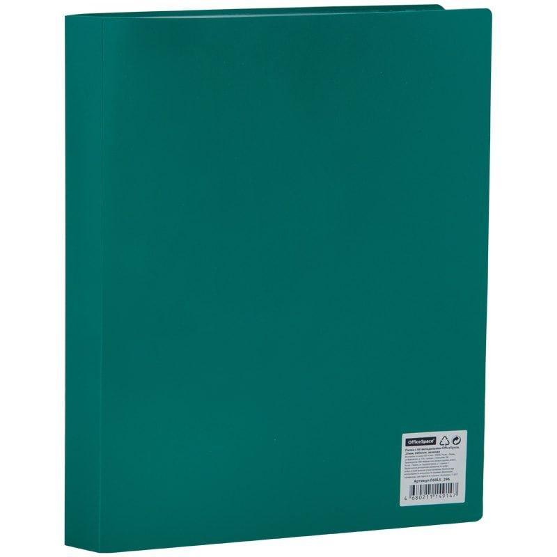 Папка 60 вкладышей OfficeSpace 0,4мм зеленая