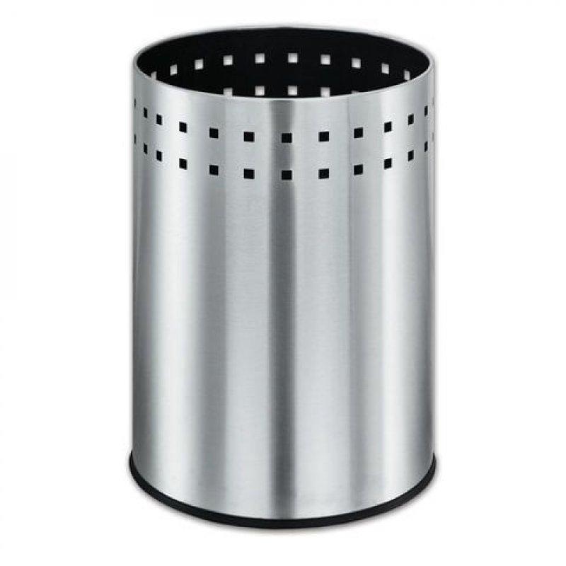 Корзина для мусора 12л металлическая Bionic  матовая