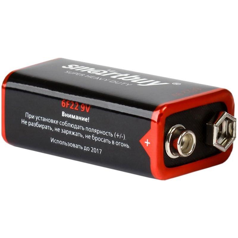 Батарейка SmartBuy 6F22 Крона солевая (1шт в термоупаковке)