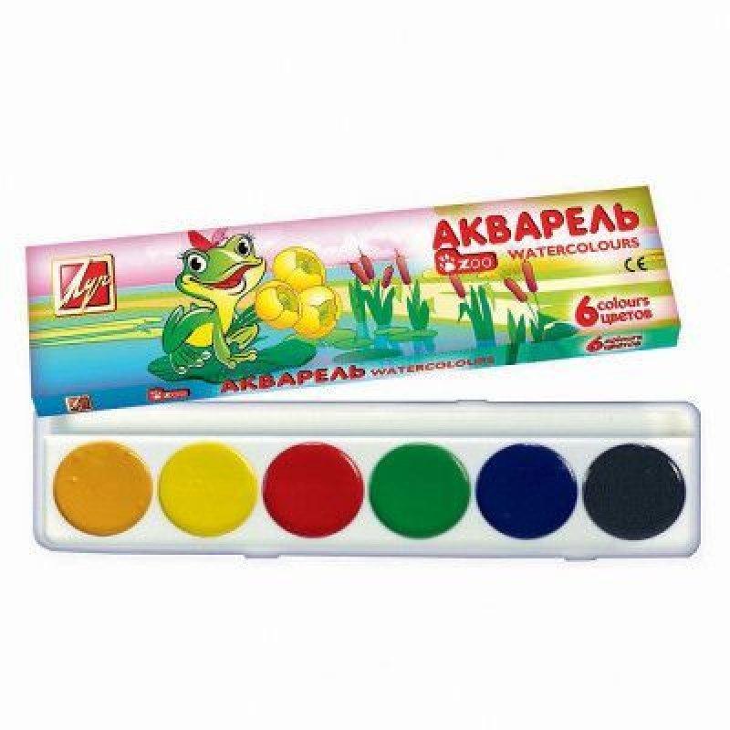 Краски акварельные 6цв Rainbow б/кисти картон/уп