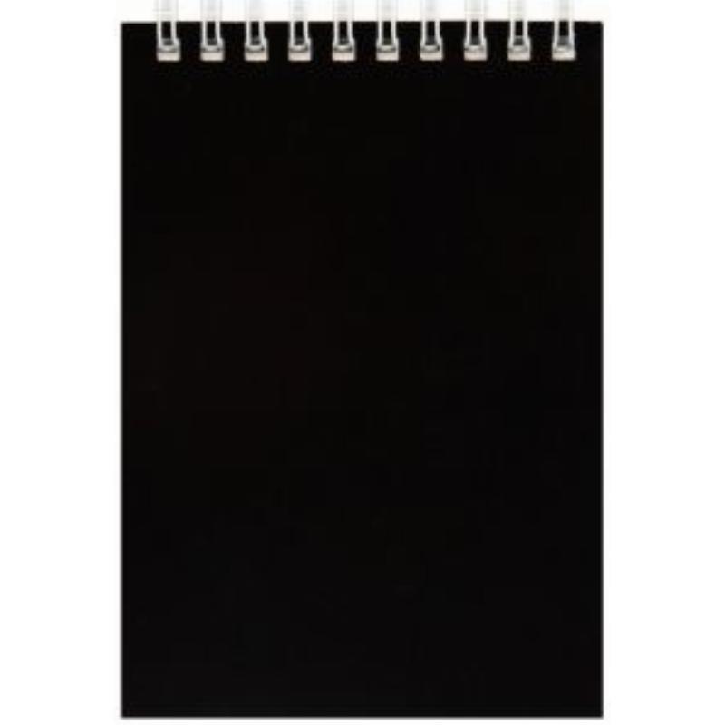 Блокнот А6 60л Черный гребень
