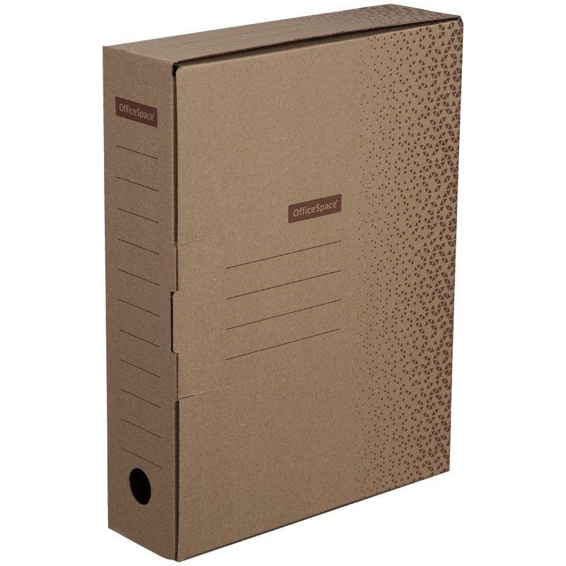 Короб архивный 75мм 700л с клапаном микрогофрокартон бурый 320х240х75мм OfficeSpace