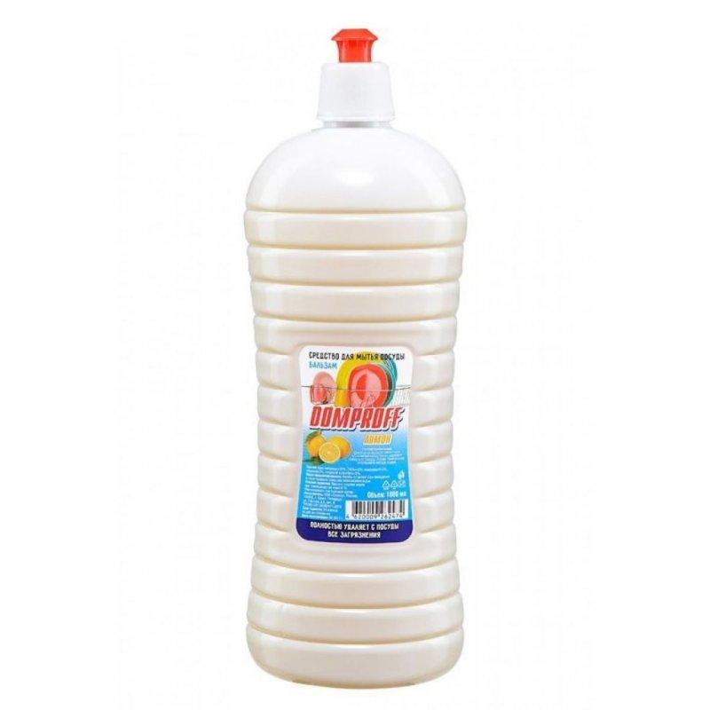 Средство для мытья посуды 1л Domproff бальзам Лимон
