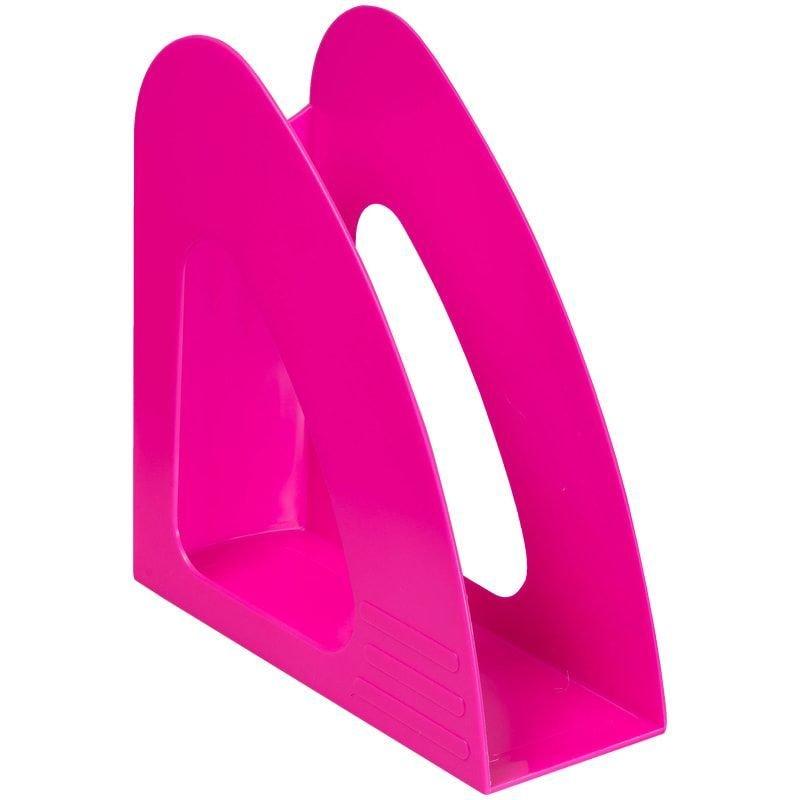 Стойка для бумаг Berlingo Mega Top неоновый розовый