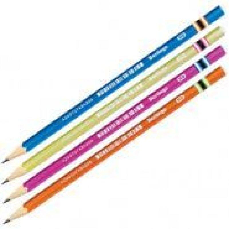 Карандаш простой Berlingo Color Zone HB  корпус пластиковый трехгранный заточенный без ластика