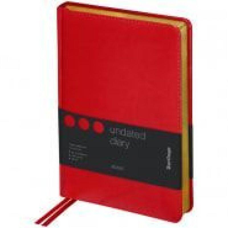 Ежедневник A5 недат xGold красный