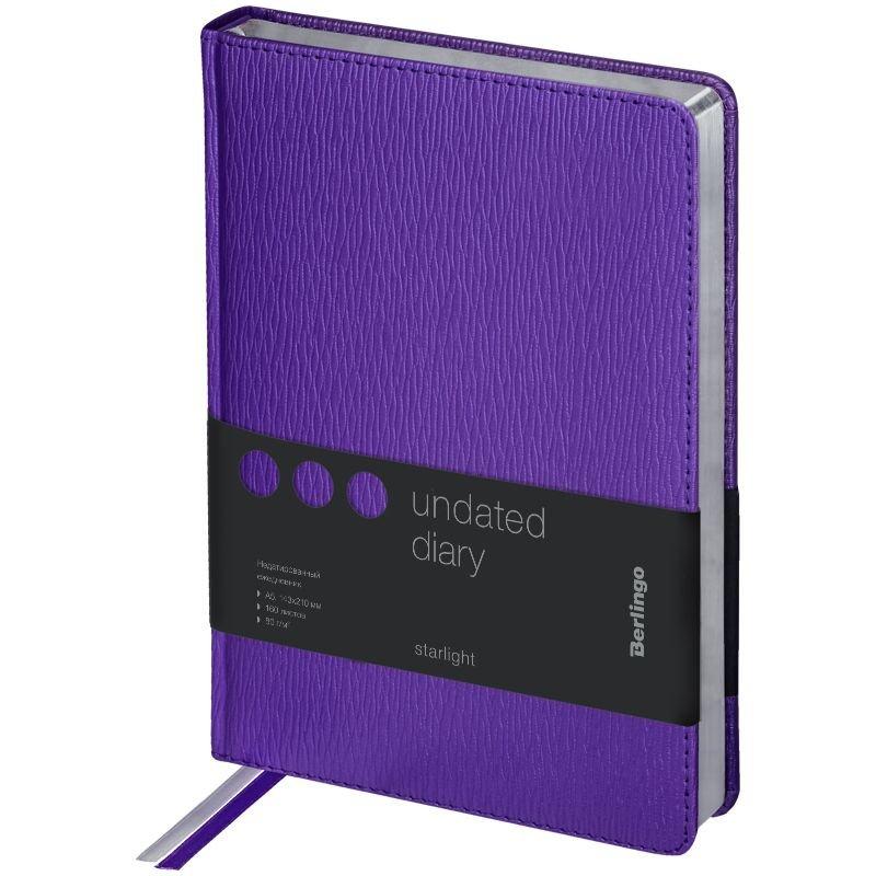 Ежедневник A5 недат Starlight фиолетовый
