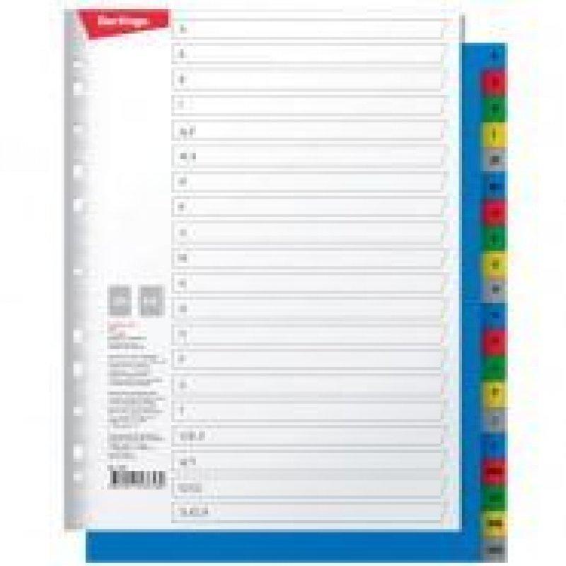 Разделитель пластиковый Berlingo А4 алфавитный А-Я цветной