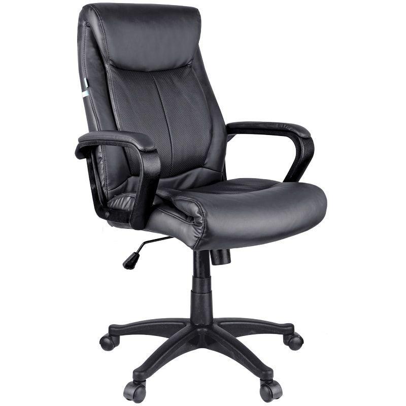 Кресло руководителя Helmi HL-E02 Income с подлокотниками экокожа черное