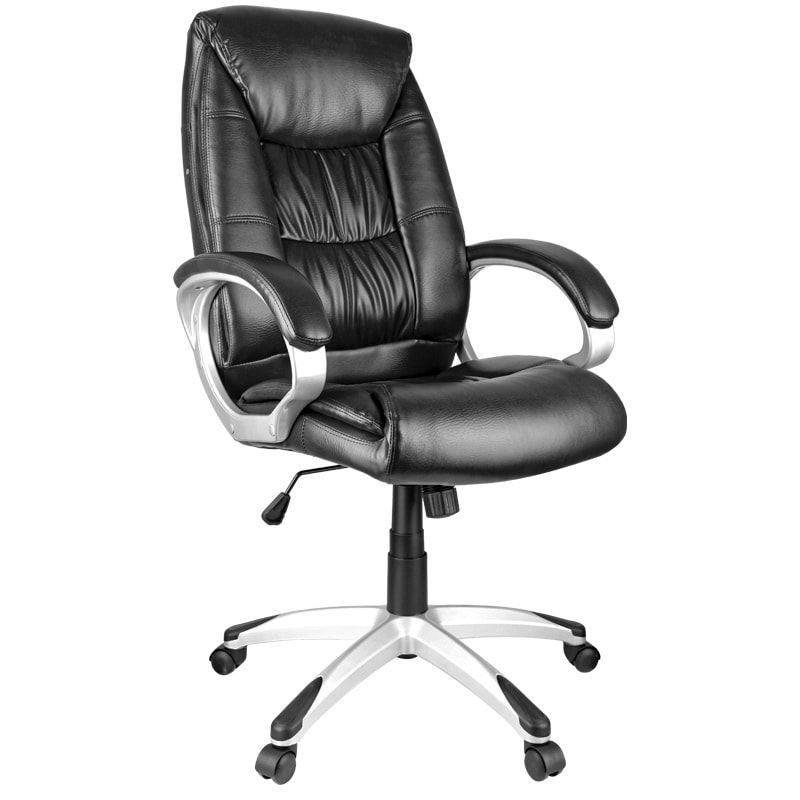 Кресло руководителя Helmi HL-E06 Balance с подлокотниками экокожа черное