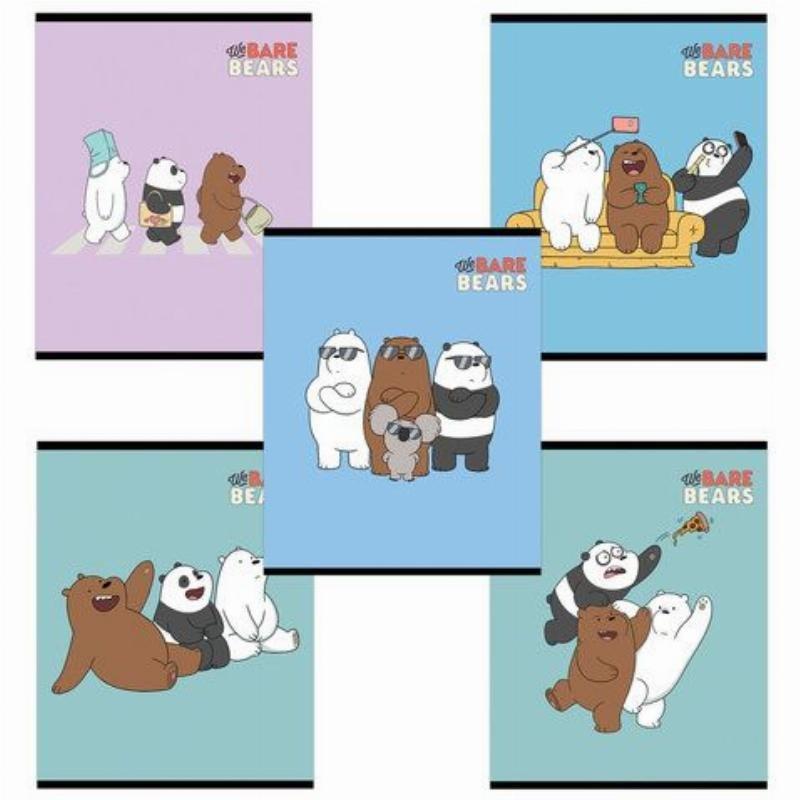 Тетрадь 48л Вся правда о медведях клетка