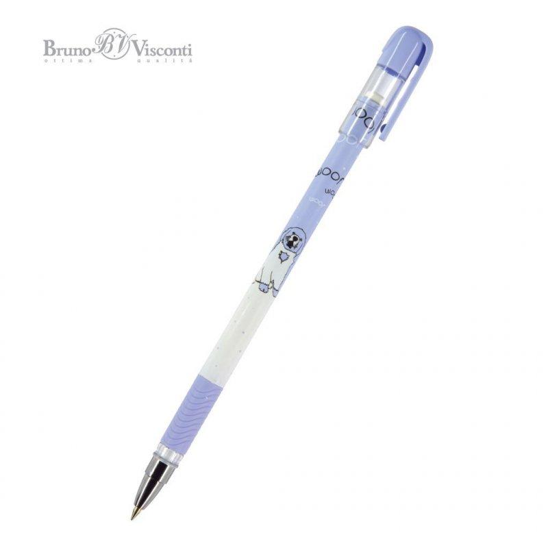 Ручка шариковая Bruno Visconti MagicWrite Веселая собачка 0,5 мм корпус пластик синяя