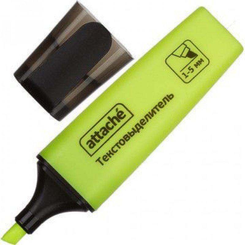 Текстмаркер Attache Colored 1-5мм скошенный наконечник желтый