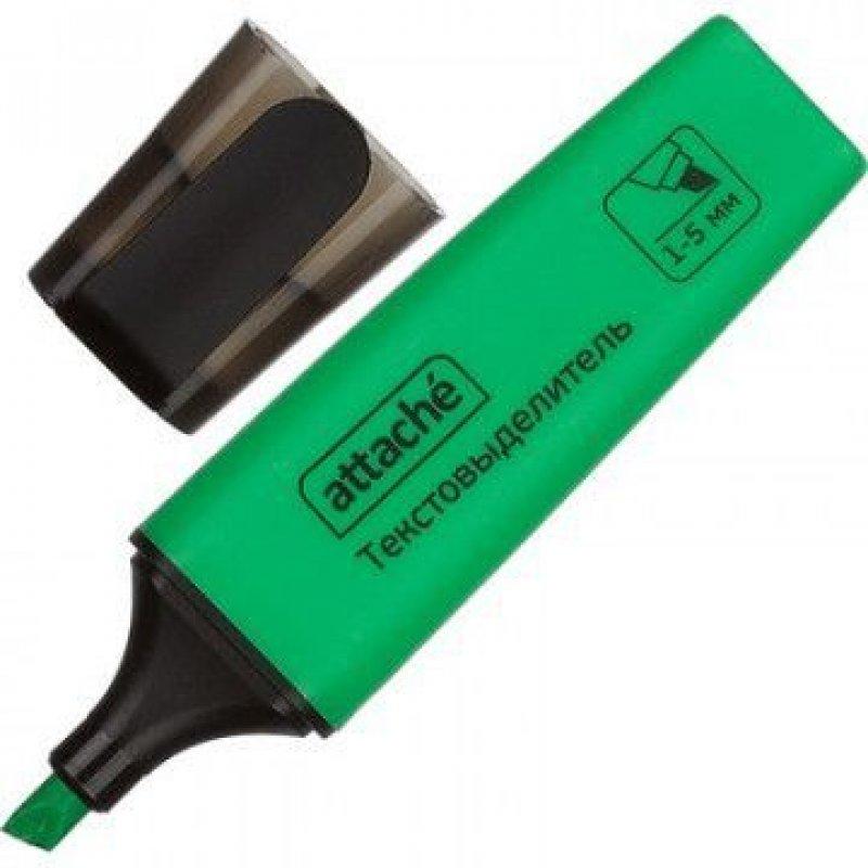 Текстмаркер Attache Colored 1-5мм скошенный наконечник зеленый