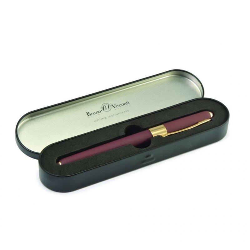 Ручка шариковая подарочная Bruno Visconti Monaco 0.5 мм синяя коричневый корпус в металл. коробке