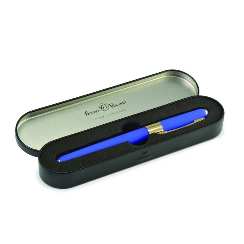 Ручка шариковая подарочная Bruno Visconti Monaco 0.5 мм синяя синий корпус в металл. коробке