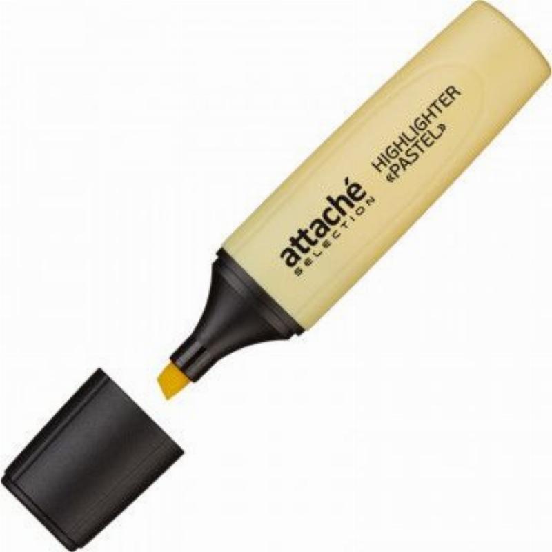 Текстмаркер Attache Selection Pastel 1-5мм скошенный наконечник желтый пастель